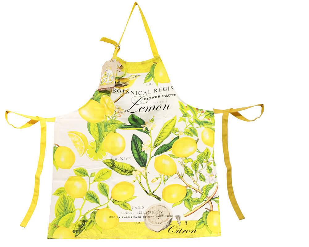 Apron By Michel Design Works New York Lemon Basil Renio  Clark - Michel design works kitchen towel