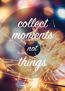 postcard collect moments not things renio clark