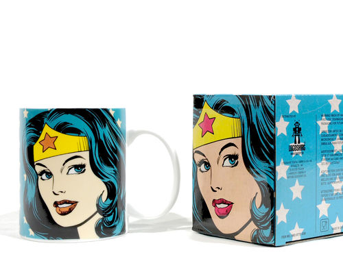 "Boxed ceramic coffee mug "" WONDER WOMAN """