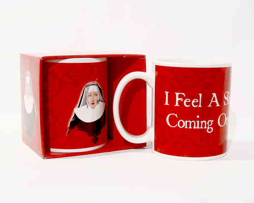 "Kaffeebecher - Tasse ""I feel a sin coming on"" Classic"