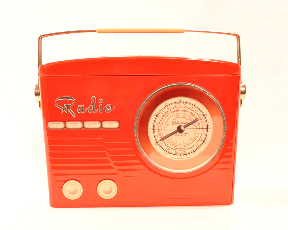 Vorratsdose Cookie Radio - Retro Rot