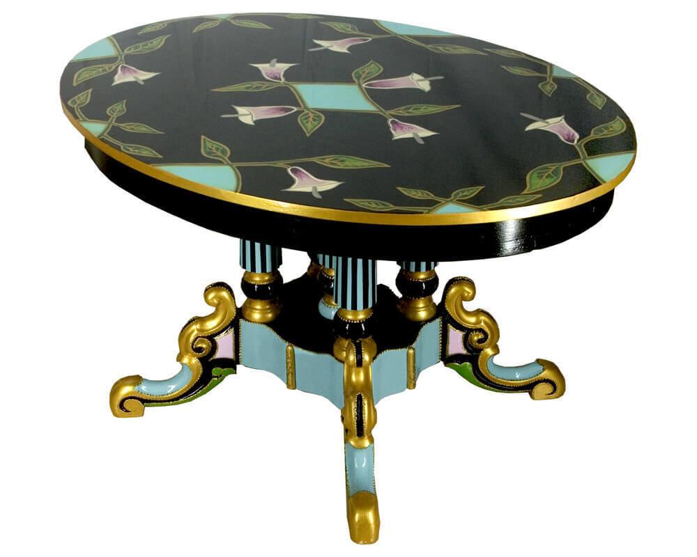 Loving Colors Polychromed Coffee Table Art Deco Calla R C
