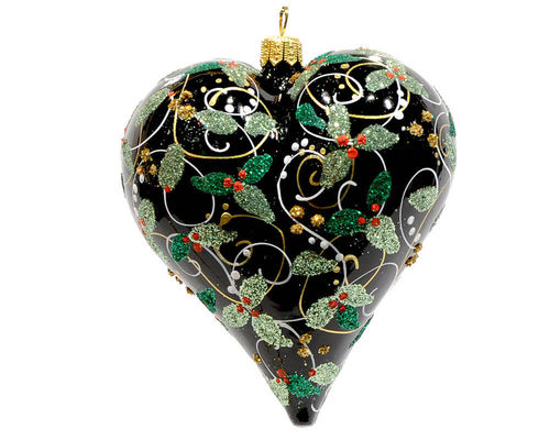 Christbaum Hänger Ornamental Heart Black
