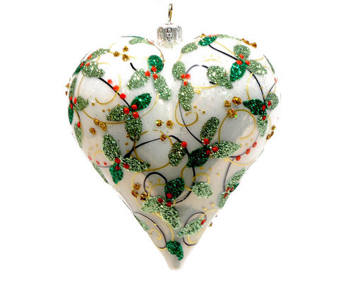 Christbaum Hänger Ornamental Heart White