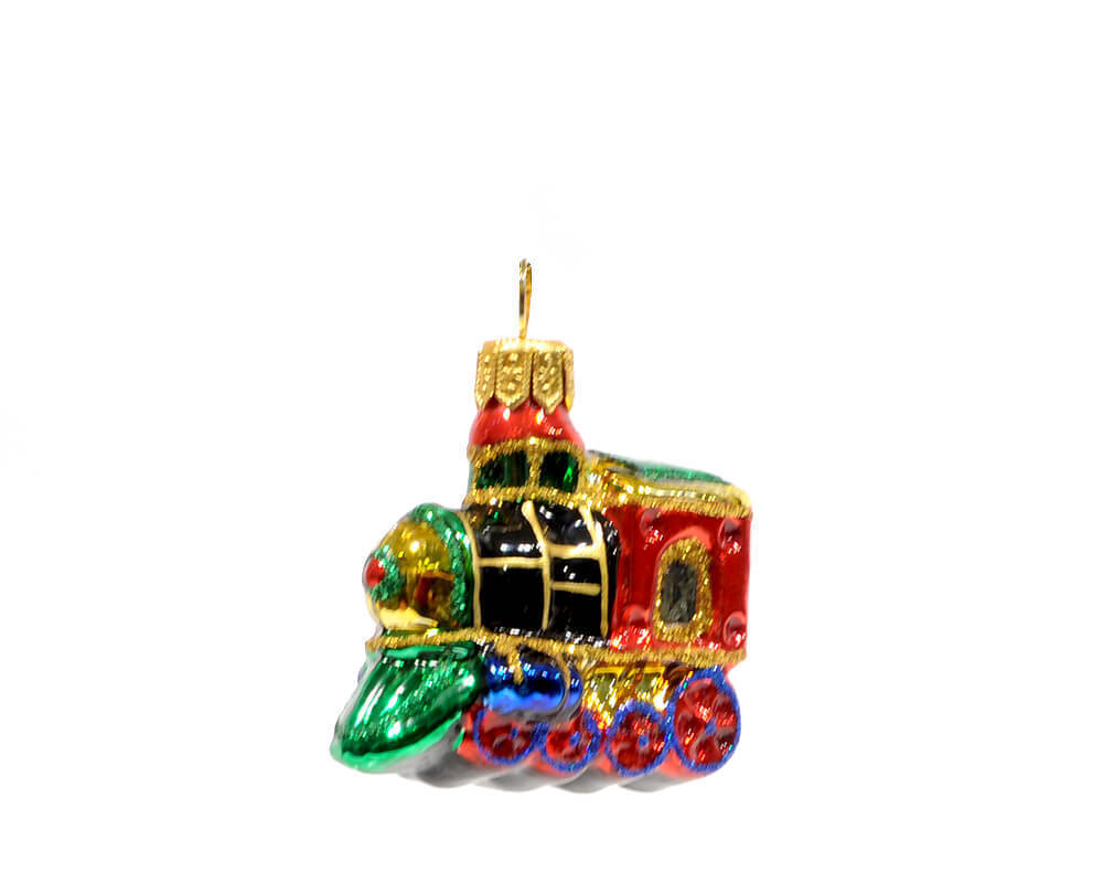 Nostalgic christmas glass ornament mini locomotive r c