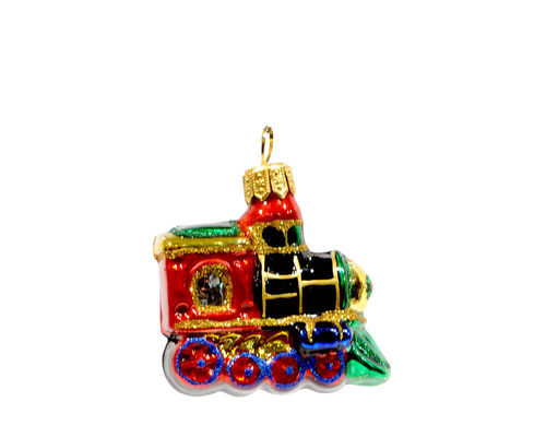 Christbaum Glas Hänger Mini-Lokomotive