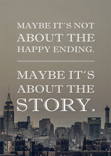 "Postkarte ""Maybe it's not about the happy ending"""