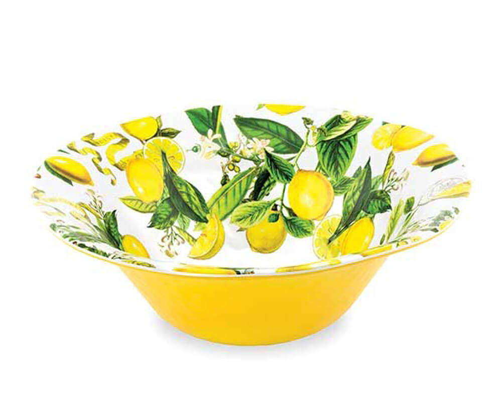 Michel Design Large Salad Bowl Lemon Basil
