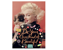Postkarte Marilyn Monroe Be your own kind of beautiful