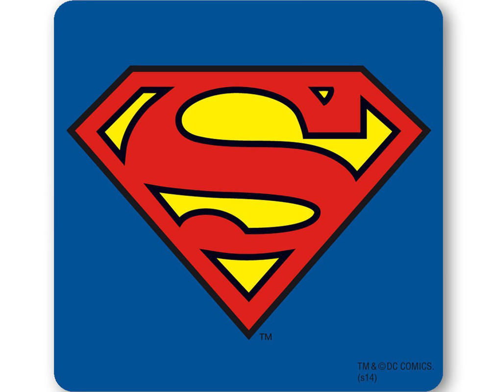 Dessous de bouteille avec symbole de superman renio clark - Symbole de superman ...