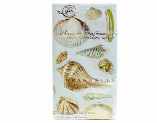 Michel Design Dinner-Napkins Servietten Seashells