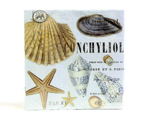 Michel Design Luncheon-Napkins Servietten Seashells