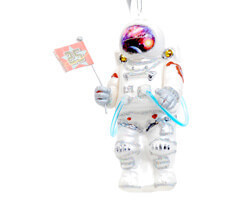 Gift Company Glas Hänger Astronaut mit Flagge