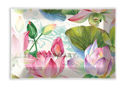 Glas Seifenschale Michel Design Water Lilies