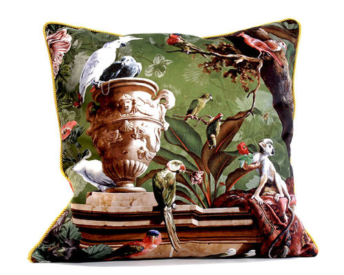 Punk & Poetry Velour Pillow Cover La Ménagerie 50