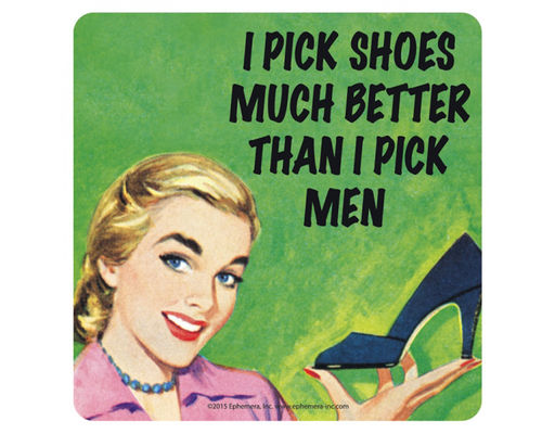 "Untersetzer / Bierdeckel ""I pick shoes ..."""