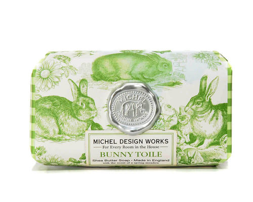 "Michel Design Works bath soap ""Bunny Toile"""