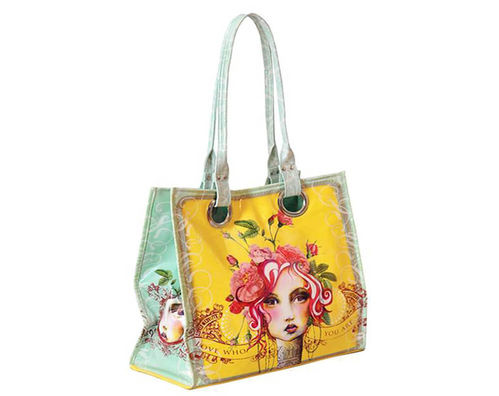 "Papaya Art Creative Abandon Tote Luxe ""Rose"" bag"