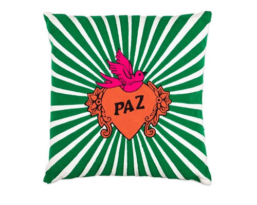 Pillow LOVE PAZ by Kitsch Kitchen Amsterdam