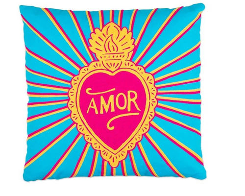 Pillow LOVE AMOR by Kitsch Kitchen Amsterdam
