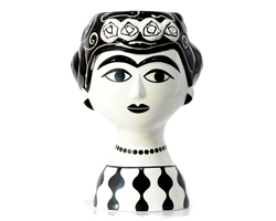"Vase ""Marisol Black & White"" Kitsch Kitchen Amsterdam"