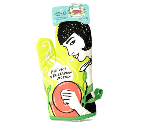 "Oven glove ""Hot hot Vegetarian Action"""