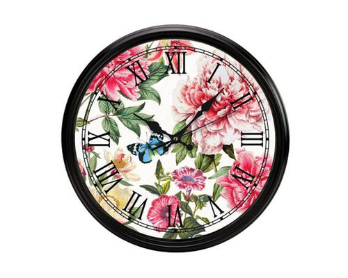 "Michel Design Works wall clock ""Peony"""