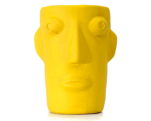 "Vase ""Cabeza"" Yellow L Kitsch Kitchen Amsterdam"