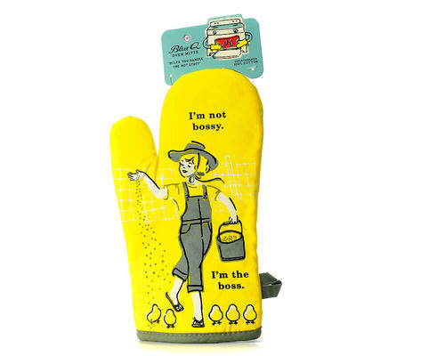 "Oven glove Blue Q ""I'm not bossy. I'm the boss"""