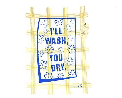 "Geschirrtuch Blue Q ""I'll wash - you dry"""