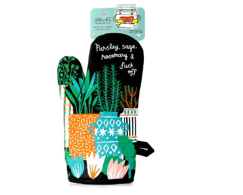 "Oven glove Blue Q ""Parsley, Sage, Rosemary..."""