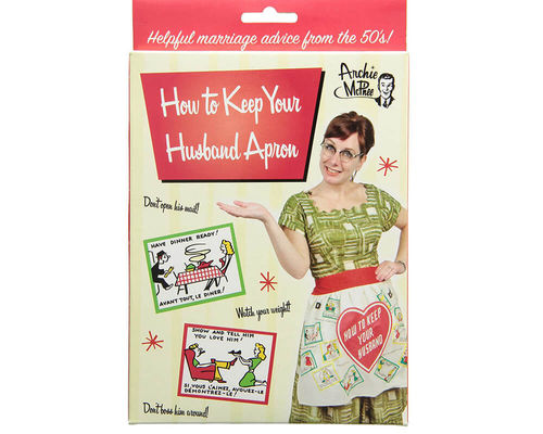 "Retro-Fun Küchen-Schürze ""How To keep your husband"""