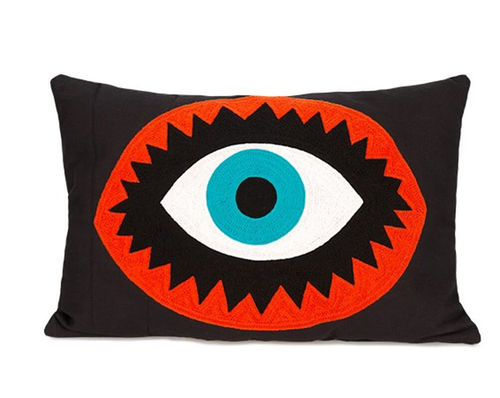 Embroidered Pillow EYE Kitsch Kitchen Amsterdam