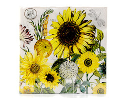 "Michel Design Luncheon-Napkins Servietten ""Sunflower"""