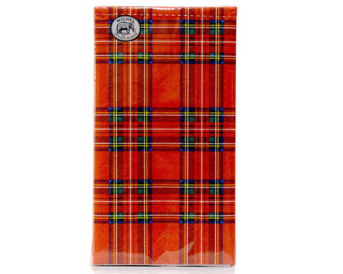 "Michel Design Hostess Dinner Napkins ""Tartan"""