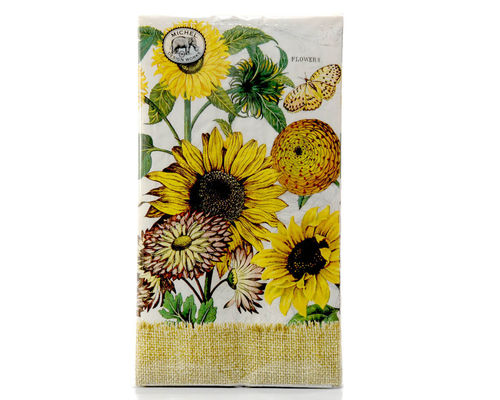"Michel Design Hostess Dinner Napkins ""Sunflower"""