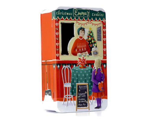 Tin jar cookie box Kiosk Emma's Cookies""
