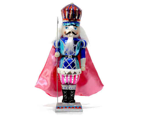 Nutcracker with Cape Pink & Blue GIFT COMPANY