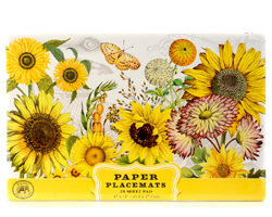 "Michel Design Placemats Papier Platzdecken ""Sunflower"""