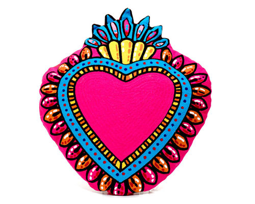 Pillow Milagro Heart Pink Kitsch Kitchen Amsterdam