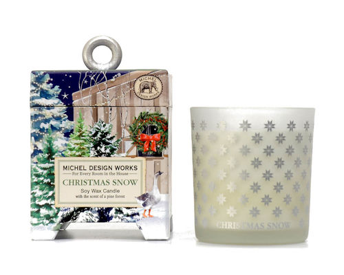 "Scented Soy Wax Candle Michel Design ""Christmas Snow"""