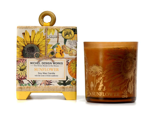 "Scented Soy Wax Candle Michel Design ""Sunflower"""
