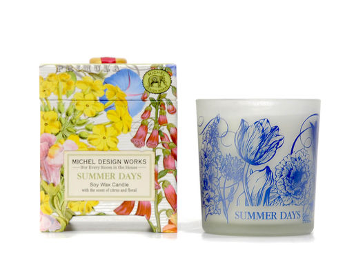 "Scented Soy Wax Candle Michel Design ""Summer Days"""