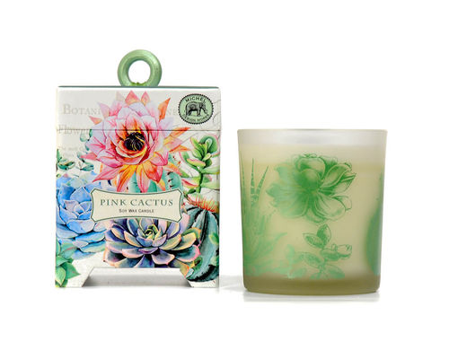 "Scented Soy Wax Candle Michel Design ""Pink Cactus"""