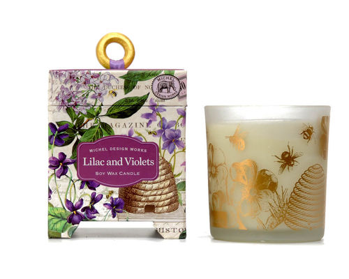 "Scented Soy Wax Candle Michel Design ""Lilac & Violets"""