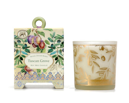 "Scented Soy Wax Candle Michel Design ""Tuscan Grove"""