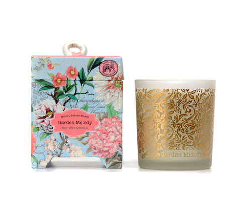 "Scented Soy Wax Candle Michel Design ""Garden Melody"""