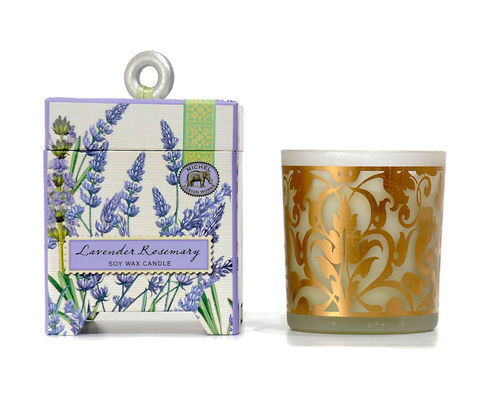 "Scented Soy Wax Candle Michel Design ""Lavender Rosemary"""