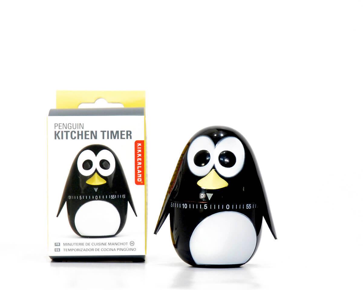 Kitchen Clock Timer Penguin By Kikkerland Renio Clark