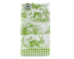 "Michel Design Dinner-Napkins Servietten ""Bunny Toile"""